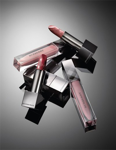 Soft Satin Lipstick, Mocha; Lip Glow, Sepia; Soft Satin Lipstick, Prune; and Lip Glow, Heather.