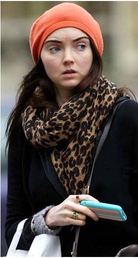 Lily Cole goes brunette