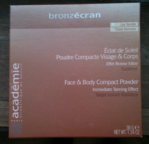 academie bronzecran face&body compact powder