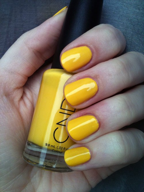 CND-Bicycle-Yellow-nails-swatch light