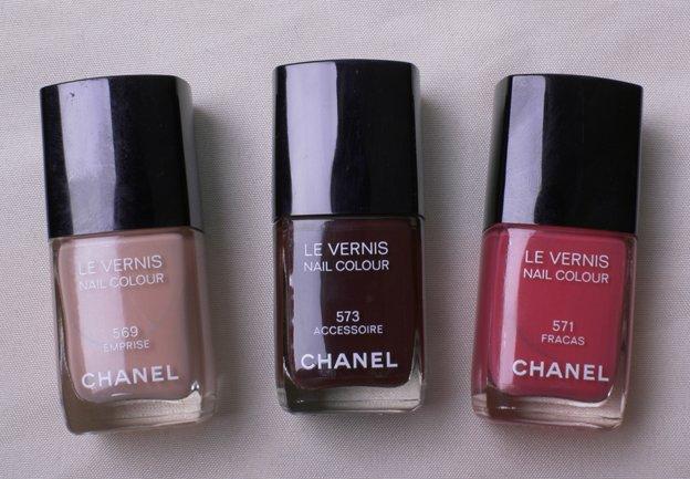 chanel nail polish 573 accessoire 571 fracas 569 emprise