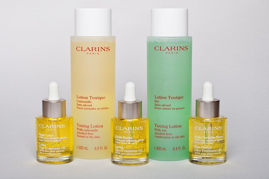 clarins oil