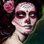 Макияж для Дня мертвых - Dia De Los Muertos