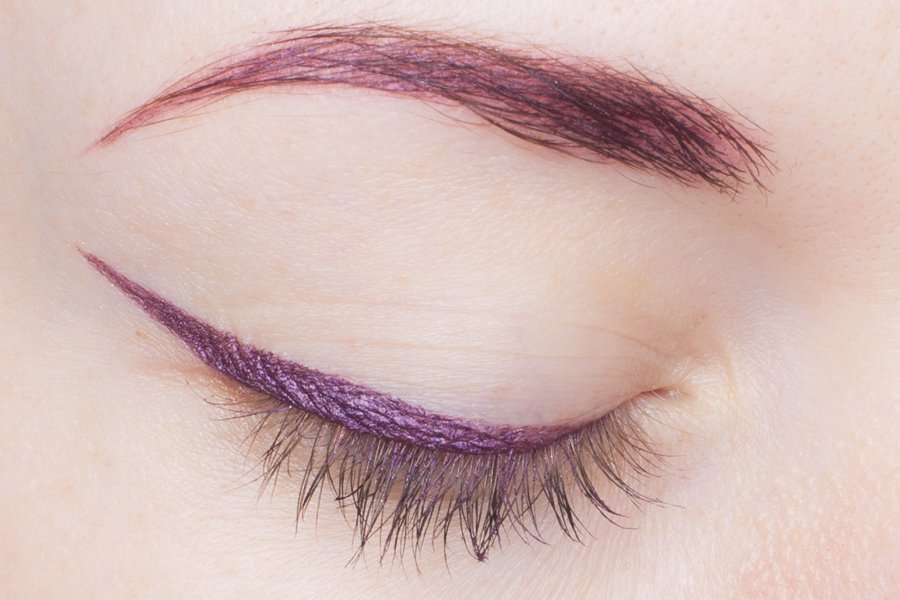 armani eye and brow maestro 15 plum swatch