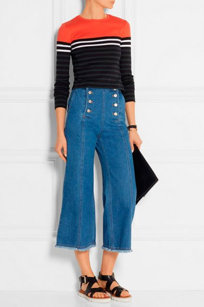how to wear cropped jeans