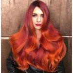 колорирование волос оранжевый огненно рыжий