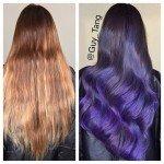 колорирование волос фото до и после