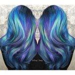 колорирование волос зеленый фиолетовый