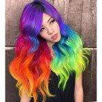 колорирование волос радуга