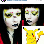 макияж с покемоном пикачу