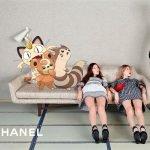покемоны в рекламе Chanel