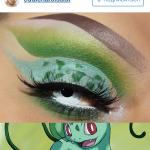 макияж глаз с бульбазавром