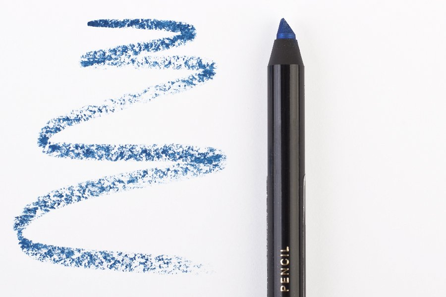H&M coloure essence eye pencil into the blue swatch