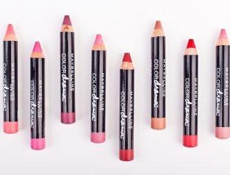 Помада-карандаш Maybelline Color Drama: все оттенки