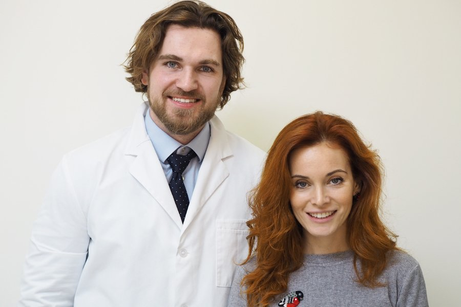 Светлана с доктором Глебом Пекли