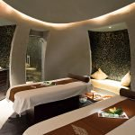 Spa treatment room for two