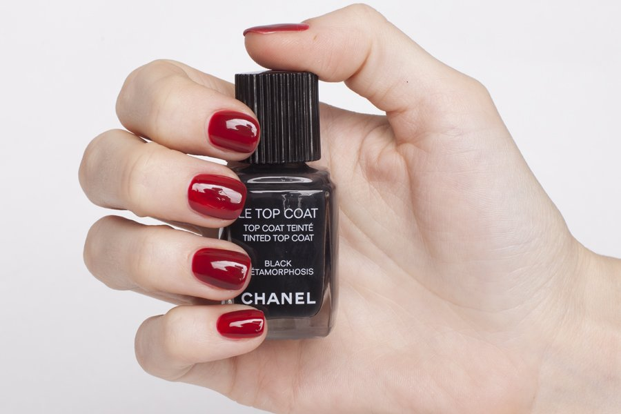 chanel le top coat black metamorphosis swatch