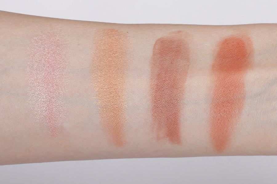 nyx sweet blush palette swatch 2