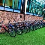 По территории можно кататься на велосипеде