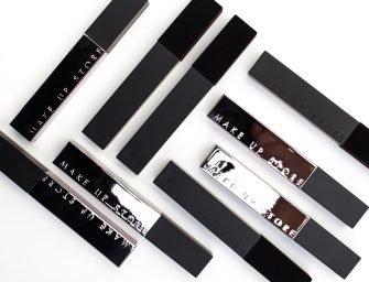 Помады Lipgloss Deluxe и Lipgloss Velvet, Make Up Store: свотчи и отзывы