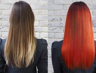 Цветные волосы: красная-прекрасная Анна