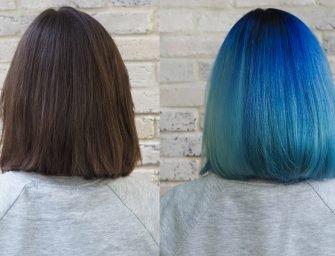 Цветные волосы: Саша и все оттенки синего