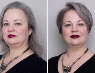 Скульптурирование лица при помощи стрижки и окрашивания: новый образ Анны