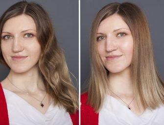 Скульптурирование лица при помощи стрижки и окрашивания: преображение Марии