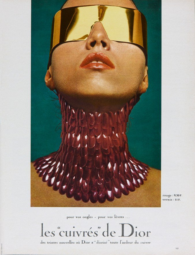 Serge Lutens, Advertising visual, Les Cuivrés, Fall/Winter 1970.
