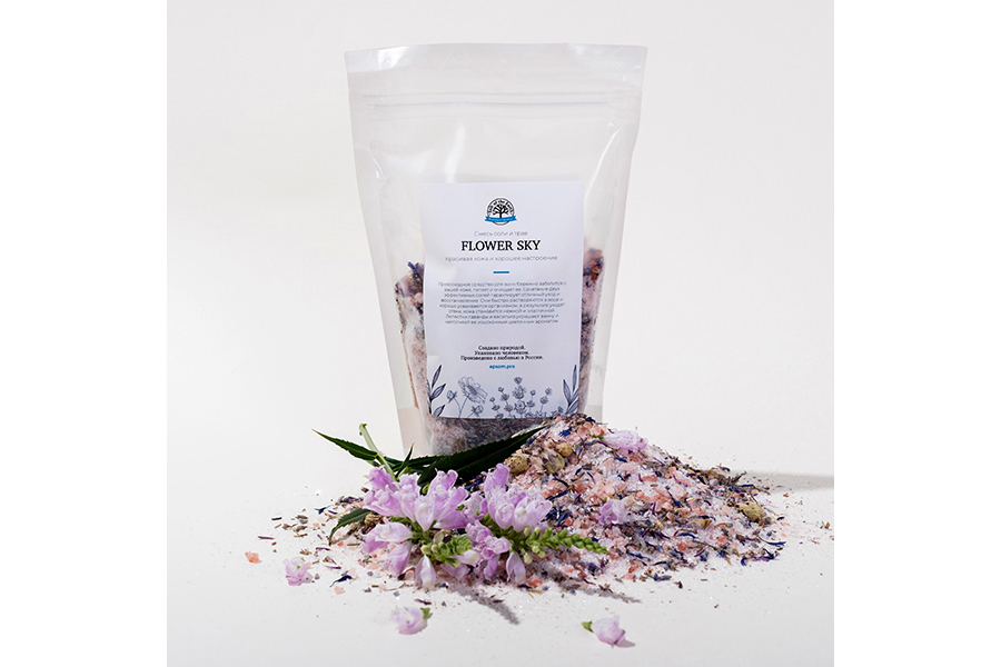 Микс для ванной с цветками лаванды и василька Flower Sky