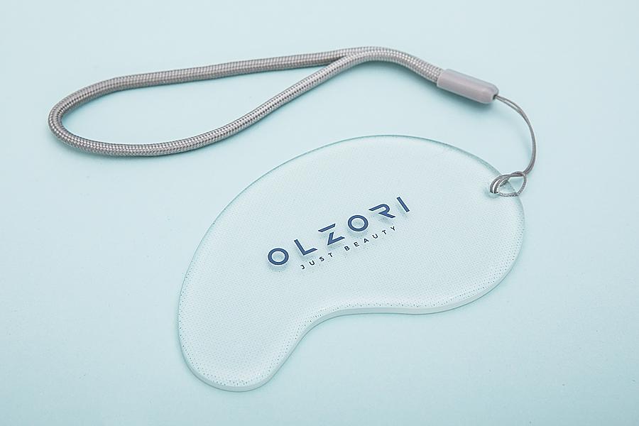 Педикюрная шлифовальная пилка для пяток из сверхпрочного закаленного стекла VirGo Foot, Olzori