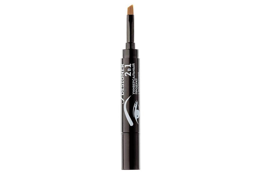 Гелевые тени для бровей с кисточкой Ideal Eyebrow Designer 2-в-1, Eva Mosaic (оттенок темно-коричневый)